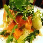 スモークサーモンのハーブサラダ